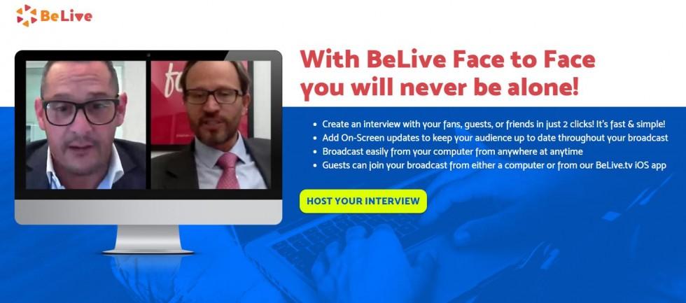 מצב ראיון בפייסבוק לייב