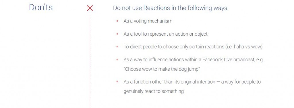Facebook live reactions poll guidelines